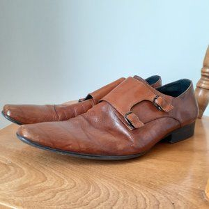 Luca Cellini Brown Italian Leather Mens Shoes